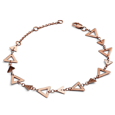 18ct Rose Gold Vermeil Silhouette Charm Triangle Bracelet
