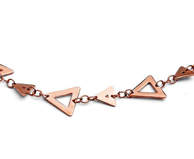 Glittering 18ct Rose Gold Vermeil Silhouette Charm Triangle Bracelet