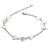 Silver Triangle Three Solid Bracelet
