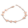18ct Rose Gold Vermeil Trio Triangle  Bracelet