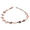 18ct Rose Gold Vermeil  Solid Triangle Bracelet