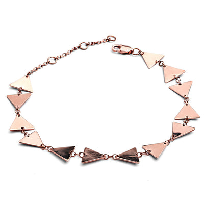 18 ct Rose Gold Vermeil Triangle Bow Bracelet