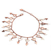 18ct Rose Gold Vermeil Triangle Charm Bracelet