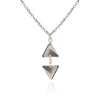 925 Sterling Silver Small Triangle  Pendant Necklace