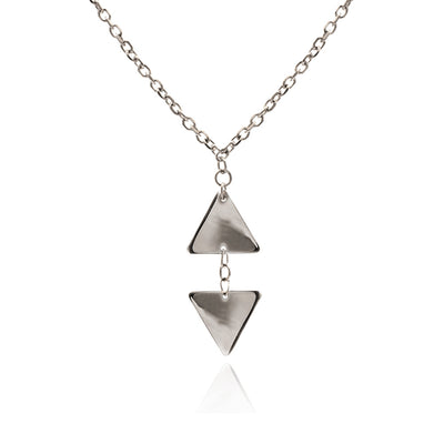 Sterling Silver Small Triangle  Pendant Necklace