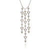 925 Sterling Silver Large Triangle Charm Pendant Necklace