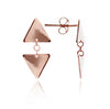 18ct Rose Gold Vermeil Triangle Charm  Studs earrings