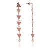 18ct Rose Gold Vermeil Solid Charm Triangle Dangle Earrings