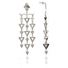 Silver Statement Triangle Earrings
