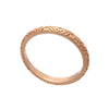 Exotic 18ct Rose Gold  Vermeil Tribal Pattern Stacking Band