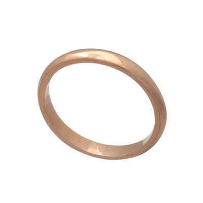 Unisex Polished 18ct Rose Gold Vermeil Stacking Band