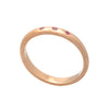 18ct Rose Gold Vermeil Stacking Ring with Rubies