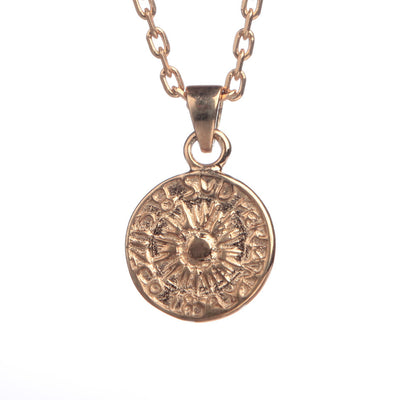 18ct Rose Gold  vermeil Peruvian Coin Necklace