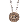 18ct Rose Gold vermeil  Rose Quartz Peruvian Coin Necklace