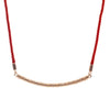 18ct Rose Gold  Vermeil Tribal Pattern Pendant Necklace with Colourful Luxury Cord