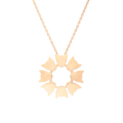 18ct Rose Gold Vermeil Large Jaguar Flower Pendant