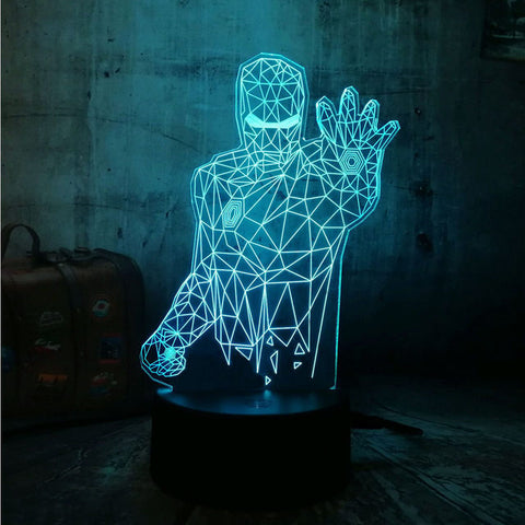 Ironman Armour 3D Lamp