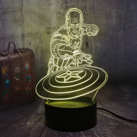 Captain America 3D Lamp