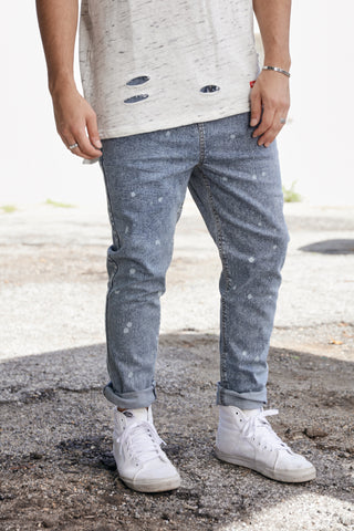 Splatter Moto Denim - Blonde