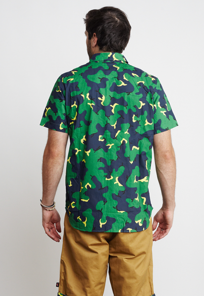 CAMO/TRIANGLES WOVEN TOP
