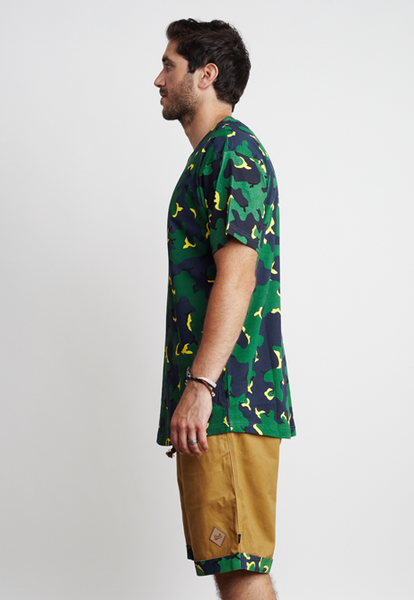 CAMO/TRIANGLES TEE