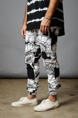 JAPANESE FLROALS THOMPSON JOGGERS