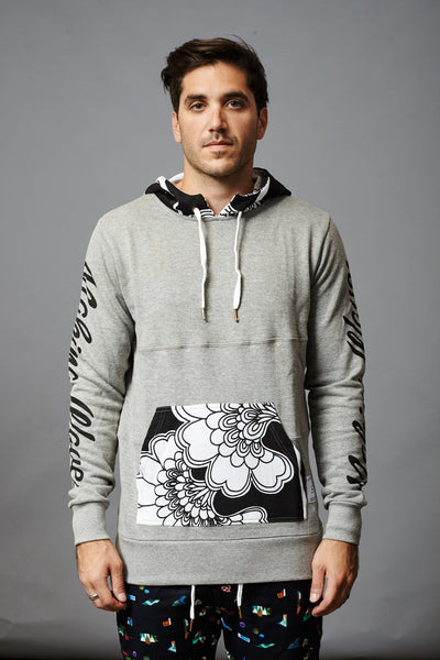 MAKING WAVES FLORALS FRENCH TERRY HOOD