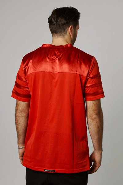 STANDARD SATIN MESH FOOTBALL JERSEY - RED