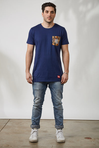 THE INDO PAISLEY POCKET TEE