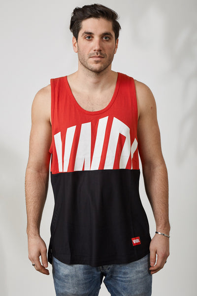 WORLDWIDE HALFIE MESH TANK - RED