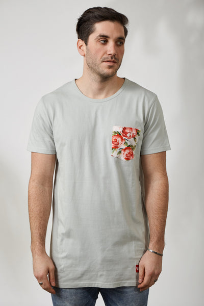 WATERFLORALS KENSINGTON POCKET TEE