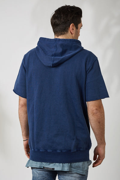 CHAMP HOOD SS TERRY - NVY