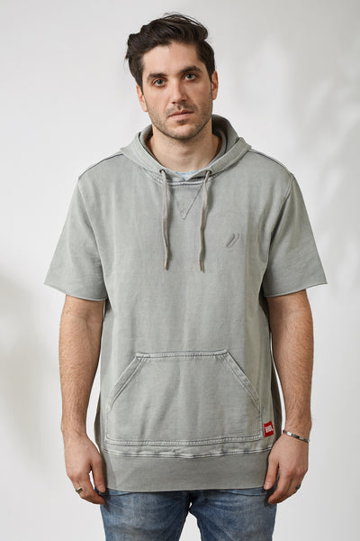 CHAMP HOOD SS TERRY - GREY