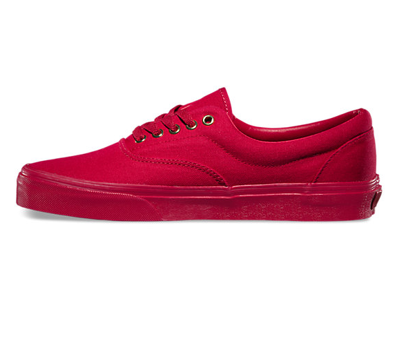 EXCLUSIVE Gold Mono Era Vans Classics - RED – VANDAL COLLECTIVE   Made In  Secret For You b4db07ab2