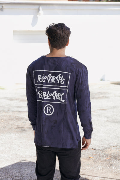 Revive & Revolt LS Tiedye Tee - NVY