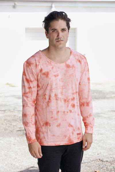 Revive & Revolt LS Tiedye Tee - RED