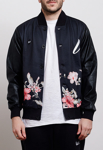 WALLFLORALS BLOCKED VARSITY JACKET