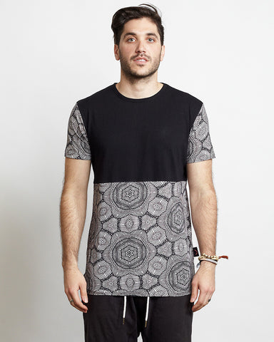 GEO SHAPES BLOCKED TEE