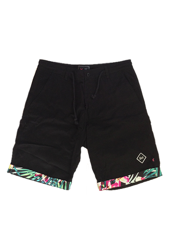 JUNGLE PALM KHAKI SHORTS