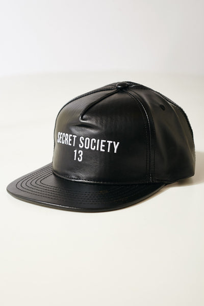 SS13 LEATHER PALMER STRAPBACK