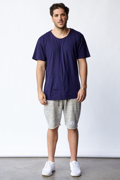 ESSENTIALS® KENSINGTON TEE - HTHR NVY