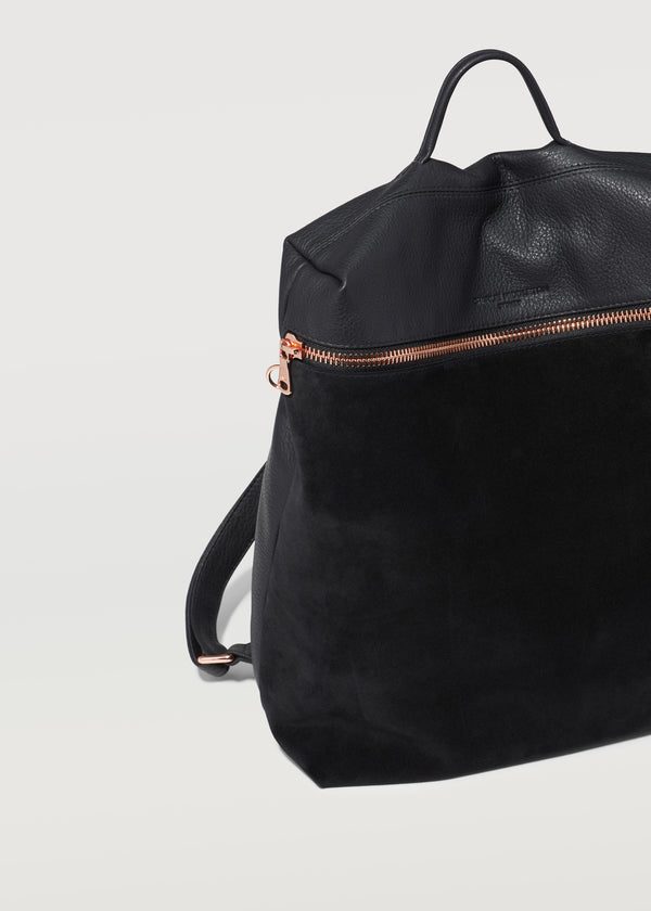 Black Two Tone Large Backpack