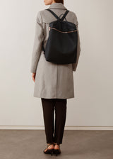 Black Nappa Large Backpack