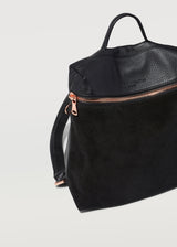 Black Two Tone Mini Backpack