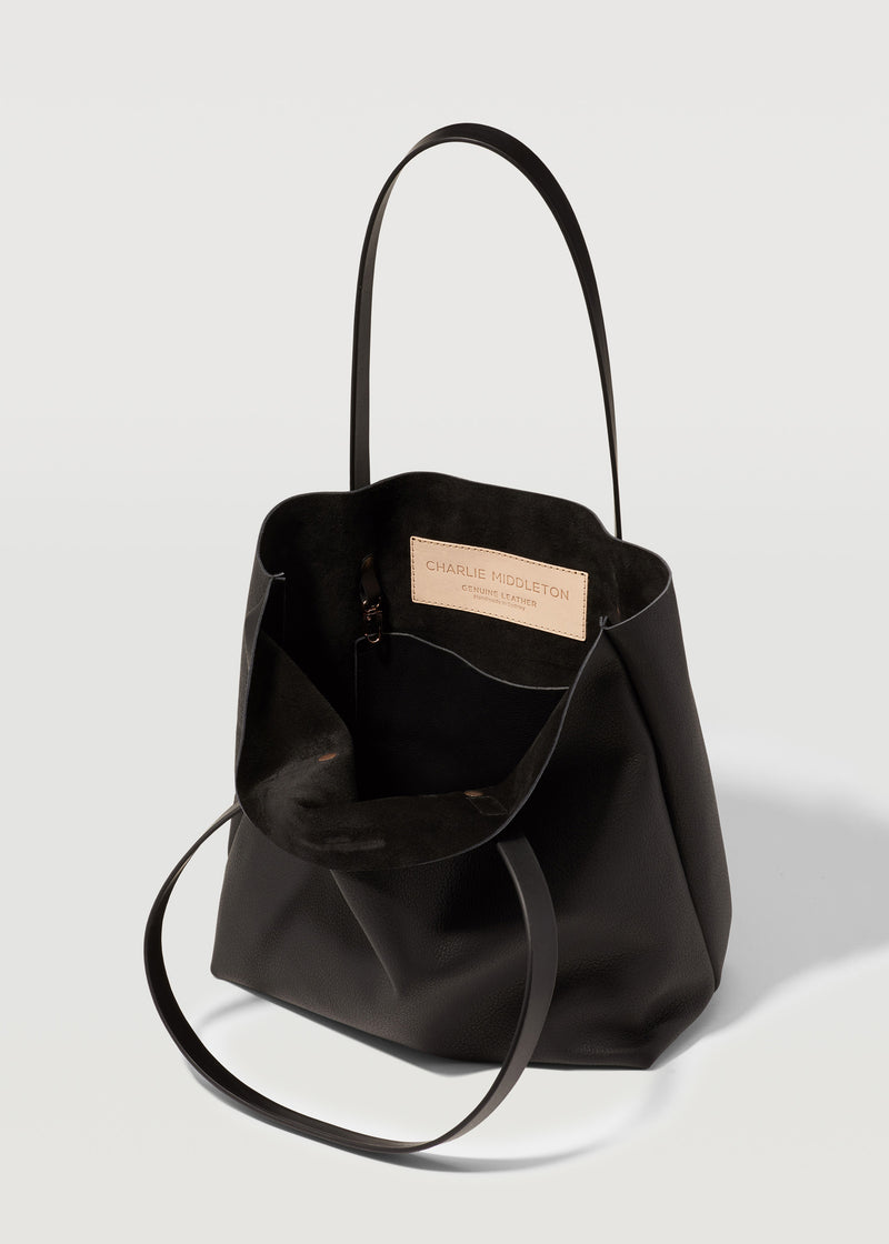 Black Nappa Mini Bespoke Tote