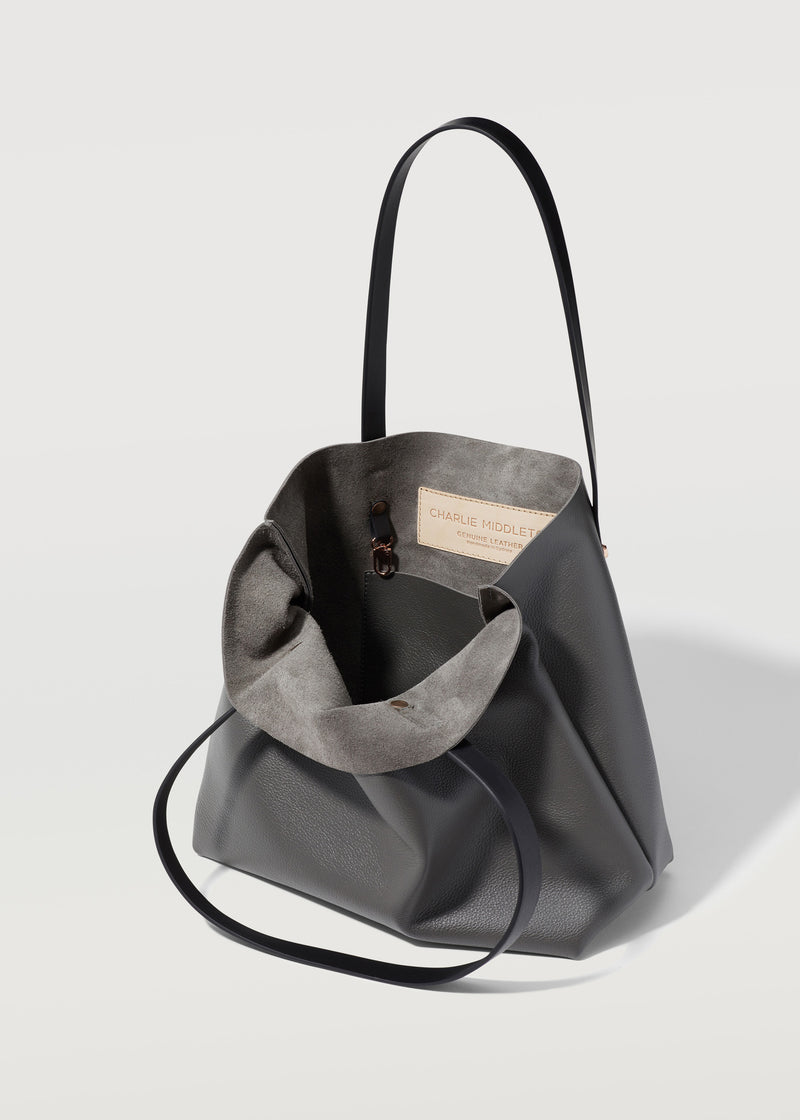 Grey Nappa Mini Bespoke Tote