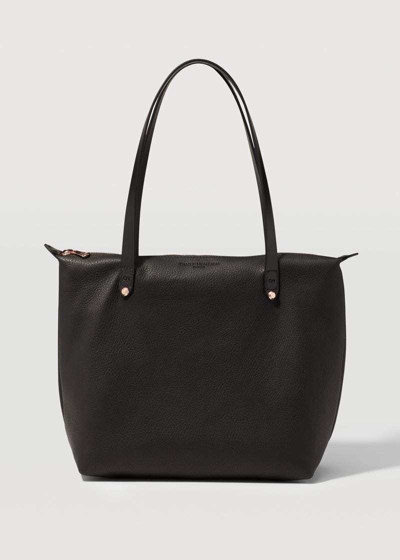 Black Nappa Mini Bespoke Zip Tote