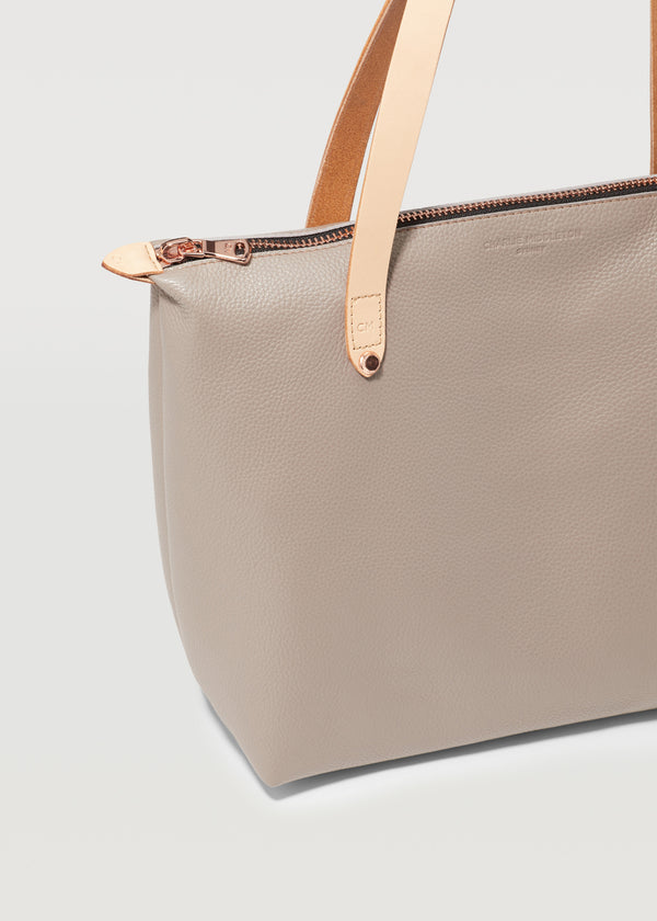 Taupe Vogue Mini Bespoke Zip Tote