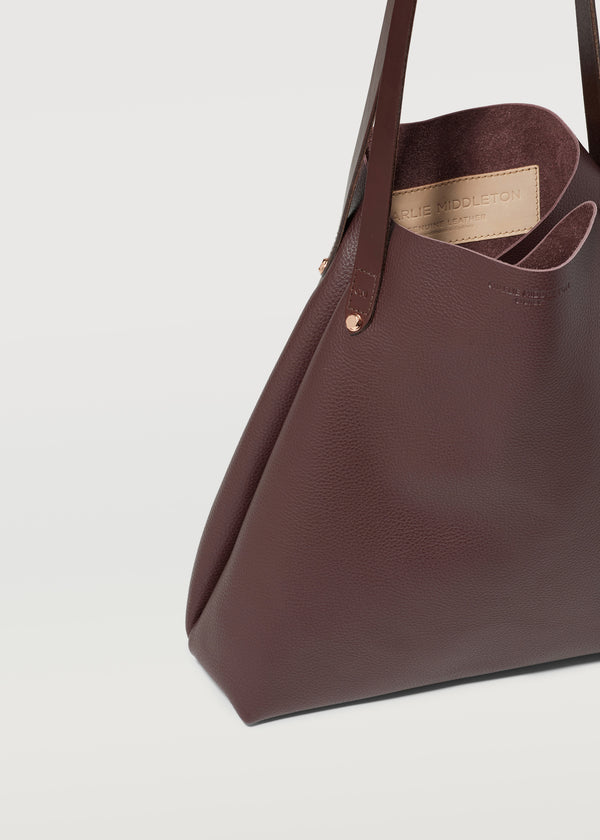 Burgundy Vogue Bespoke Tote