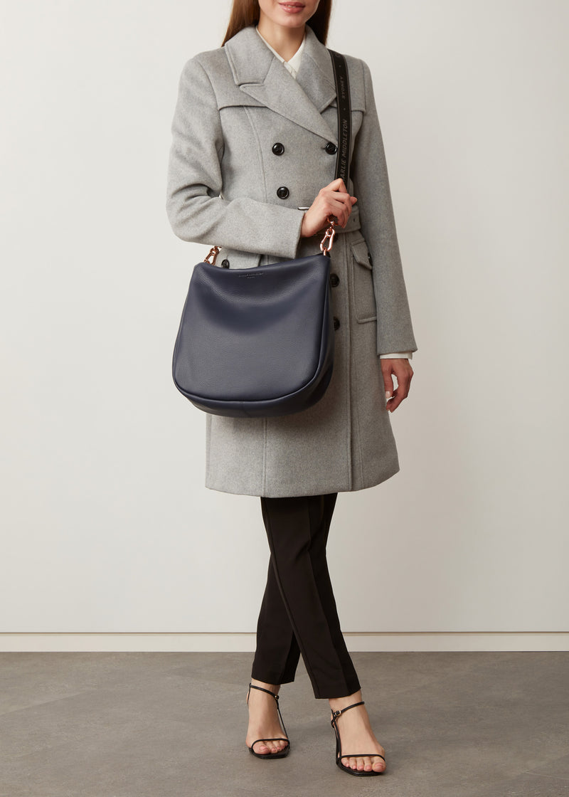 Navy Nappa Billie Shoulder Bag